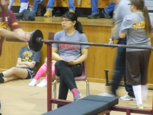 Victoria judging the bench press